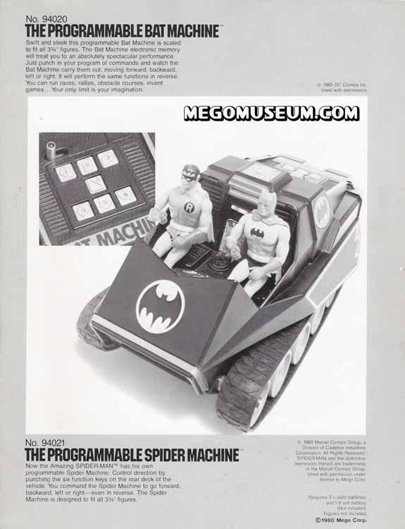 Bat Machine in the 1980 Mego Electronics Catalog