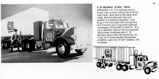 The Mego CB McHaul line art