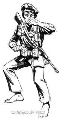 Early production sketch of Eagle Force Member Kayo