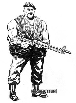 Early production sketch of Eagle Force Member Turk
