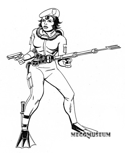 Early production sketch of Mego Eagle Force Brooke Lynn