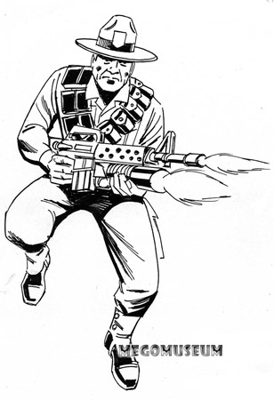 Early production sketch of Eagle Force Magnum