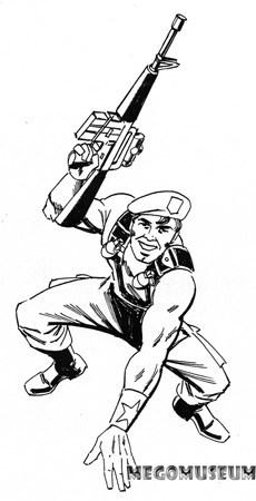 Early production sketch of Mego Eagle Force Santini
