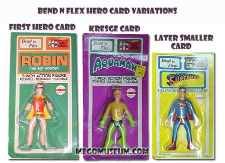 A comparison of the Mego Bend N Flex Cards