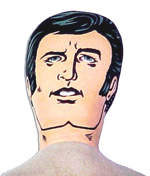 The Mego Super Softie Bruce Wayne has a removable cowl