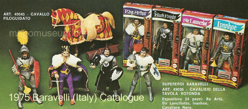 the Mego Knights horse was a Baravelli exclusive