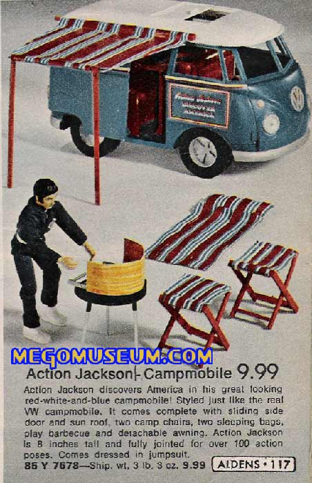 Mego Action Jackson and his campmobile
