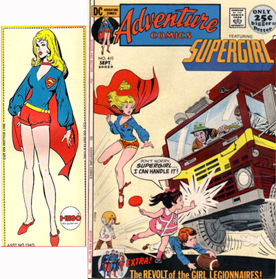 Supergirl 1972 Mego source art