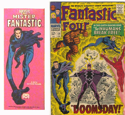 Mr Fantastic Mego Comic Book Art