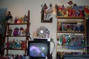 S shot of the front shelves of several