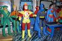 Green Arrow, Aquaman, Flash, Batman, Superman, Hawkgirl