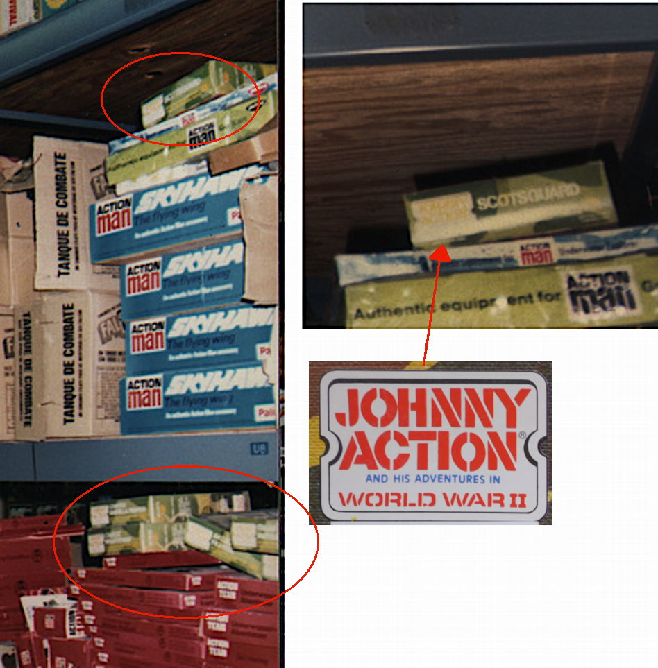 Johnny Action boxes in Hasbro Morgue