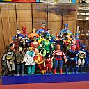 Current Museum display of my Mego, Remogo and customs