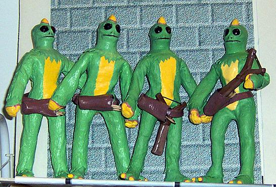 A Sleestack quartet