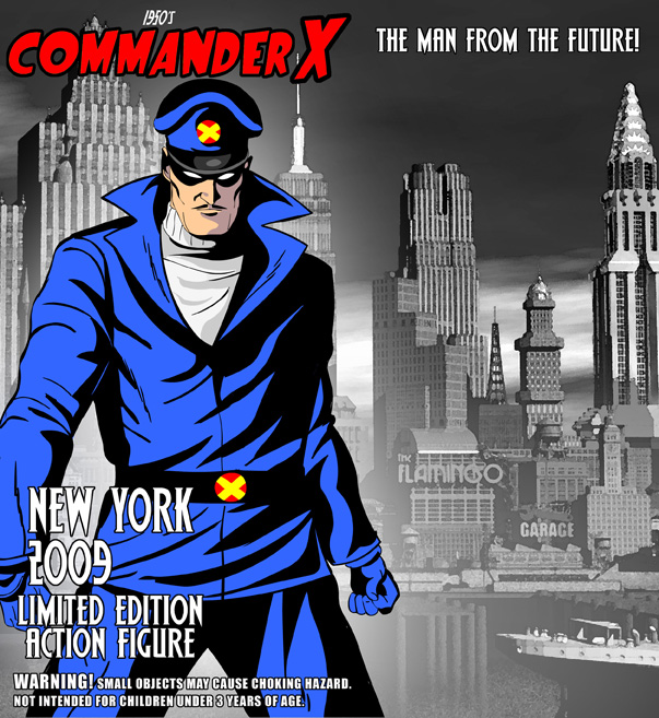 And while you're at NYCC visit the good Doctor's booth at 832. There is  also a NYCC exclusive Commander X figure at booth 1927