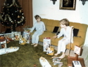 Childhood pic of me & brother W/ Evel Knievel Stunt set
