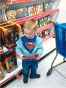 My son with Retro Action Superman
