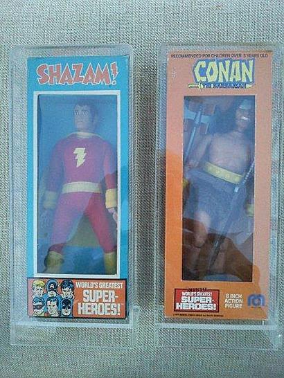 Mego Shazam and Conan Front