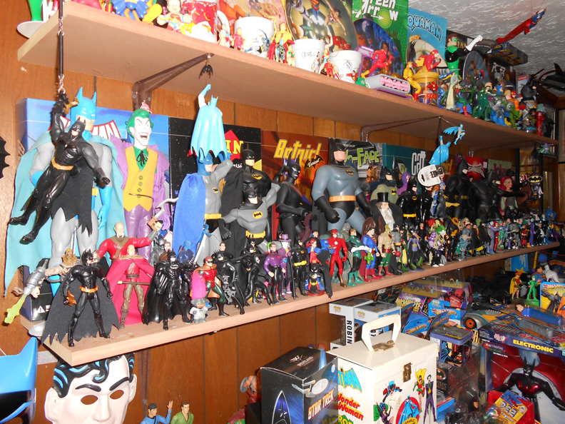 Various Batman figures
