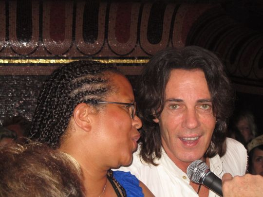 Sharry singing w/ Rick Springfield