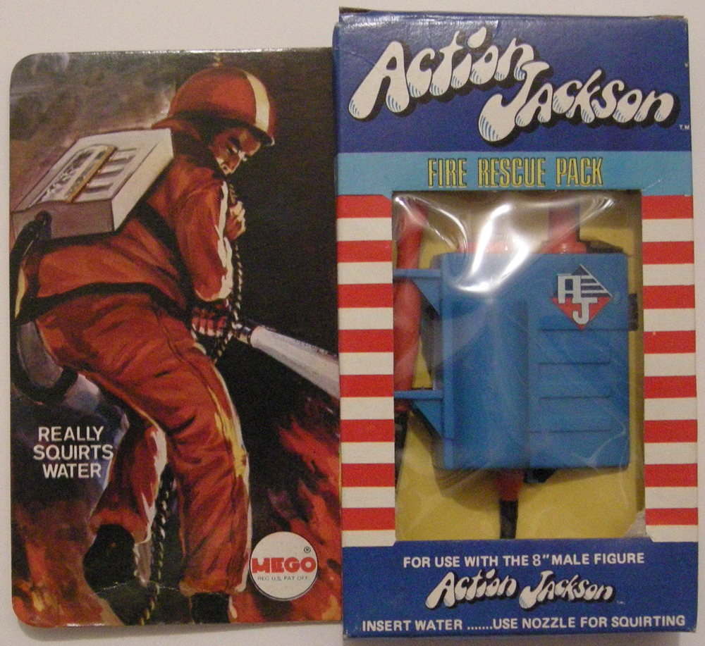 mego action jackson fire rescue pack