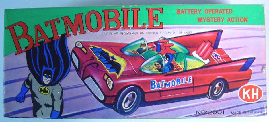 Batmobile Tin Litho Boxed