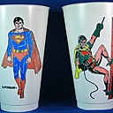 Supes and Robin Pepsi Cups