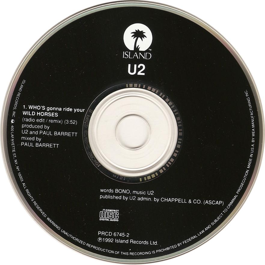 U2 Promo CD Single