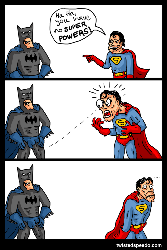 Batman Superman faceoff