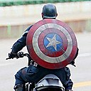 Cap on a motercycle!