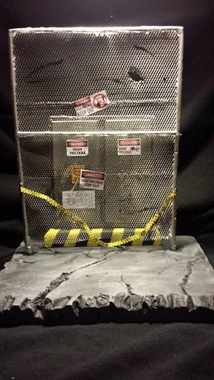 Custom Dioramas Jail Warehouse Fence