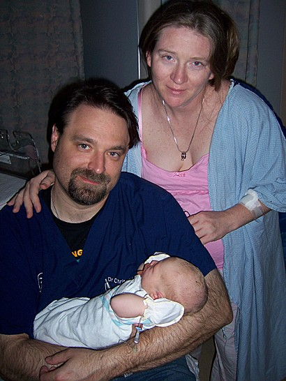 Mom Dad and Declan